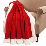 BOON Throw & Blanket Micro Plush Sherpa Throw; Red