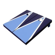 Victory Tailgate Matching Triangle Cornhole Bean Bag Toss Game; Navy and Light Blue