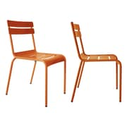 R bmin Luxembourg Stacking Side Chair (Set of 2); Orange