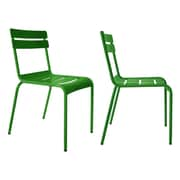 R bmin Luxembourg Stacking Side Chair (Set of 2); Green