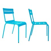 R bmin Luxembourg Stacking Side Chair (Set of 2); Blue