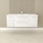 Cutler Kitchen & Bath Silhouette 48'' Single Bathroom Floating Vanity Set; White Chocolate