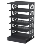 Raxxess Tall Steel Pull-Out Rotating Shelving Unit; 30'' H