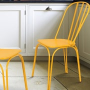 AdecoTrading Side Chair (Set of 2); Yellow
