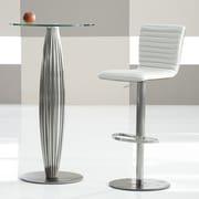 Bellini Modern Living Argenta 31'' Bar Stool; Pearl White