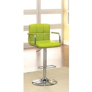 Hokku Designs Goldmember Adjustable Height Swivel Bar Stool with Cushion; Lime