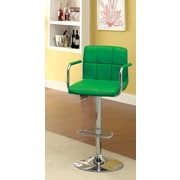 Hokku Designs Goldmember Adjustable Height Swivel Bar Stool with Cushion; Green