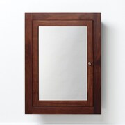 Ronbow Neo-Classic 24'' x 32'' Solid Wood Framed Medicine Cabinet in American Walnut