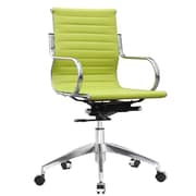 Fine Mod Imports Twist High-Back Leather Office Chair; Green
