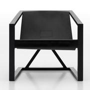 Argo Furniture Coronado Marchetti Arm Chair; Black