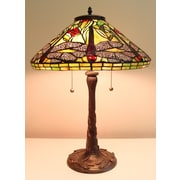 Fine Art Lighting Tiffany Dragonfly 24'' H Table Lamp with Empire Shade
