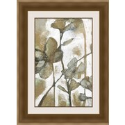 Ashton Wall D cor LLC In Bloom 'Metallic Garden I' Framed Painting Print