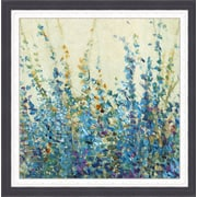Ashton Wall D cor LLC In Bloom 'Shades of Blue II' Framed Painting Print