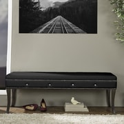 Wholesale Interiors Tavignano Wood Bedroom Bench; Black