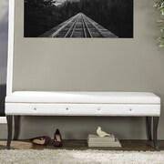Wholesale Interiors Tavignano Wood Bedroom Bench; White