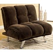 A&J Homes Studio Lauren Tufted Convertible Chair; Dark Brown