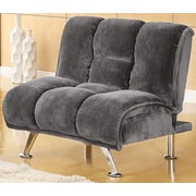 A&J Homes Studio Lauren Tufted Convertible Chair; Gray