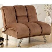 A&J Homes Studio Lauren Tufted Convertible Chair; Mocha