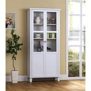 Homestar 2 Door Storage Cabinet; White