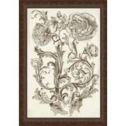 Ashton Wall D cor LLC In Bloom 'Flora & Filigree I' Framed Painting Print