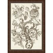 Ashton Wall D cor LLC In Bloom 'Flora & Filigree II' Framed Painting Print