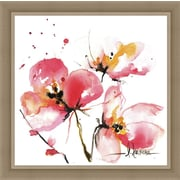 Ashton Wall D cor LLC In Bloom 'Blooms Hermanas IV' Framed Painting Print