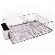Sweet Home Collection Home Basics 3 Piece Kitchen Sink Dish Drainer Set
