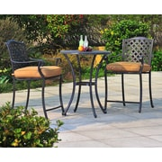 Sunjoy Largemont 3 Piece Bistro Set w/ Cushions