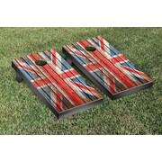 Victory Tailgate United Kingdom UK Distressed Wood Cornhole Game Set