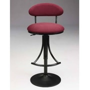 Creative Images International Adjustable Height Swivel Bar Stool; Black-Red