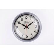 Control Brand 10.25'' Silver Cambridge Clock (G131410SILVER)