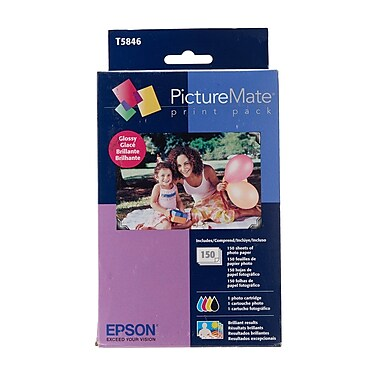Epson (T5846) PictureMate 200-Series Glossy Print Pack, 150 Sheets