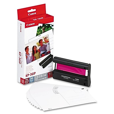 Canon – Kit cartouche d'encre tricolore et papier photo KP-36IP, (7737A001)