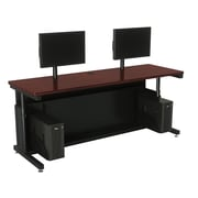 "Versa Tables Adjustable Dual User 72"" x 24""  Computer Desk Cherry  (SPB10472240102)"