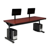 "Versa Tables Basic Dual User 72"" x 30"" Steel Frame, Laminated Wood  Computer Desk Cherry  (SPB10172300102)"