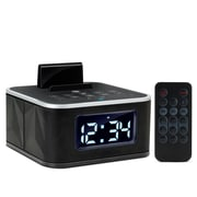 Gogroove GGBSRST100BKUS BlueSYNC RST Alarm Clock Bluetooth Speaker with FM Radio Black