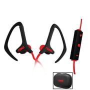 Naxa ne-936-r Sports Over-Ear Earphones with Mic, Red