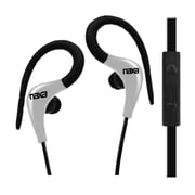 Naxa ne-935-w Sports Over-Ear Earphones with Mic, White