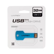 Unirex 32GB USB 2.0 Flash Drive, Blue (usfk-232)