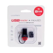 Unirex usr-082 MicroSD and USB Reader