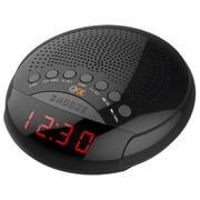 Quantum FX Alarm Clock Radio, Black (cr30)