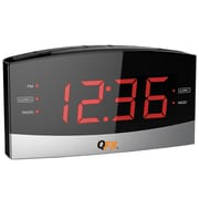 Quantum FX Alarm Clock Radio, Black (cr32)