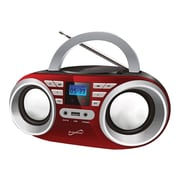 Supersonic Portable Audio System, 100 - 240 V, Red (sc-506-rd)