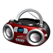 Supersonic Portable Bluetooth® Audio System, 100 - 240 V, Red (sc-509bt-rd)