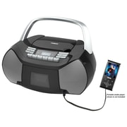 Naxa npb-268 Boombox Portable CD/Cassette Player, Black