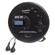 Supersonic sc-253fm Portable CD Player, Black