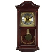 "Bedford Mantel Clock with Pendulum and Chime, 22"", Mahogany Cherry Oak, Wall (bed-1423max)"