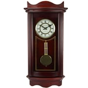 "Bedford Mantel Clock with Pendulum, 25"", Weathered Cherry Oak, Wall (bed-1247)"