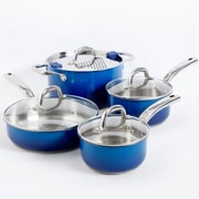 Simplemente Delicioso 8-Piece Cookware Set, Blue (102212)
