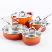 Simplemente Delicioso 8-Piece Cookware Set, Orange (92158)